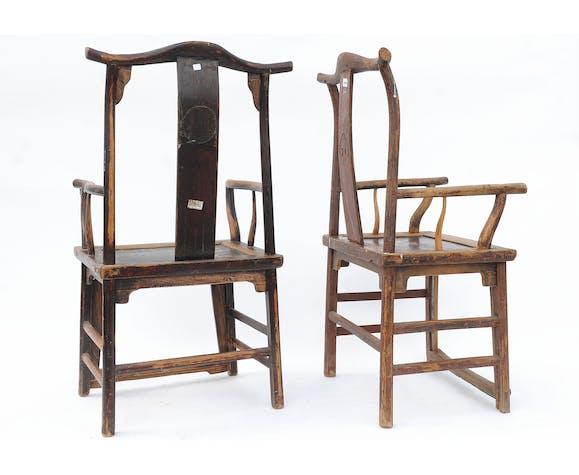 Pair of China armchairs