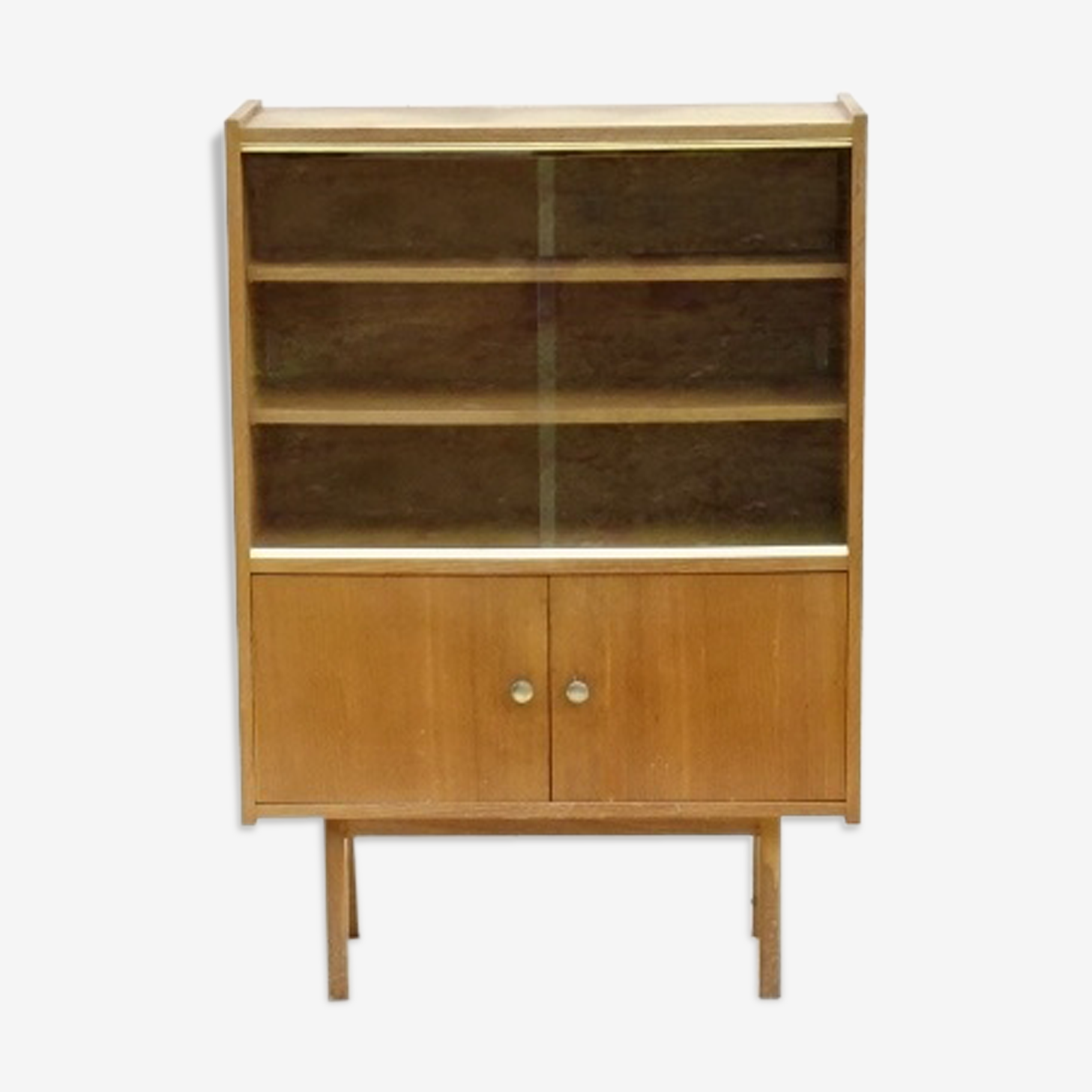 Armoire vitrine bibliothèque vintage 1970