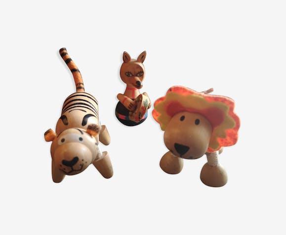 Lot figurines jouets en bois Anamalz