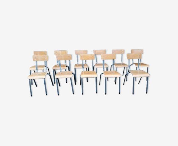 Set de 11 chaises d'école Mullca enfant