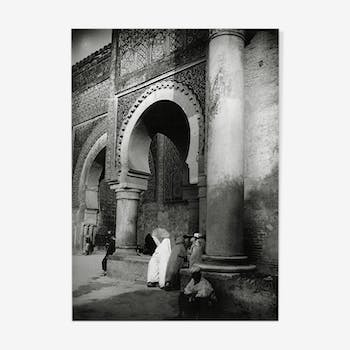 Large original photographic print Meknes wears Bab el Mansour