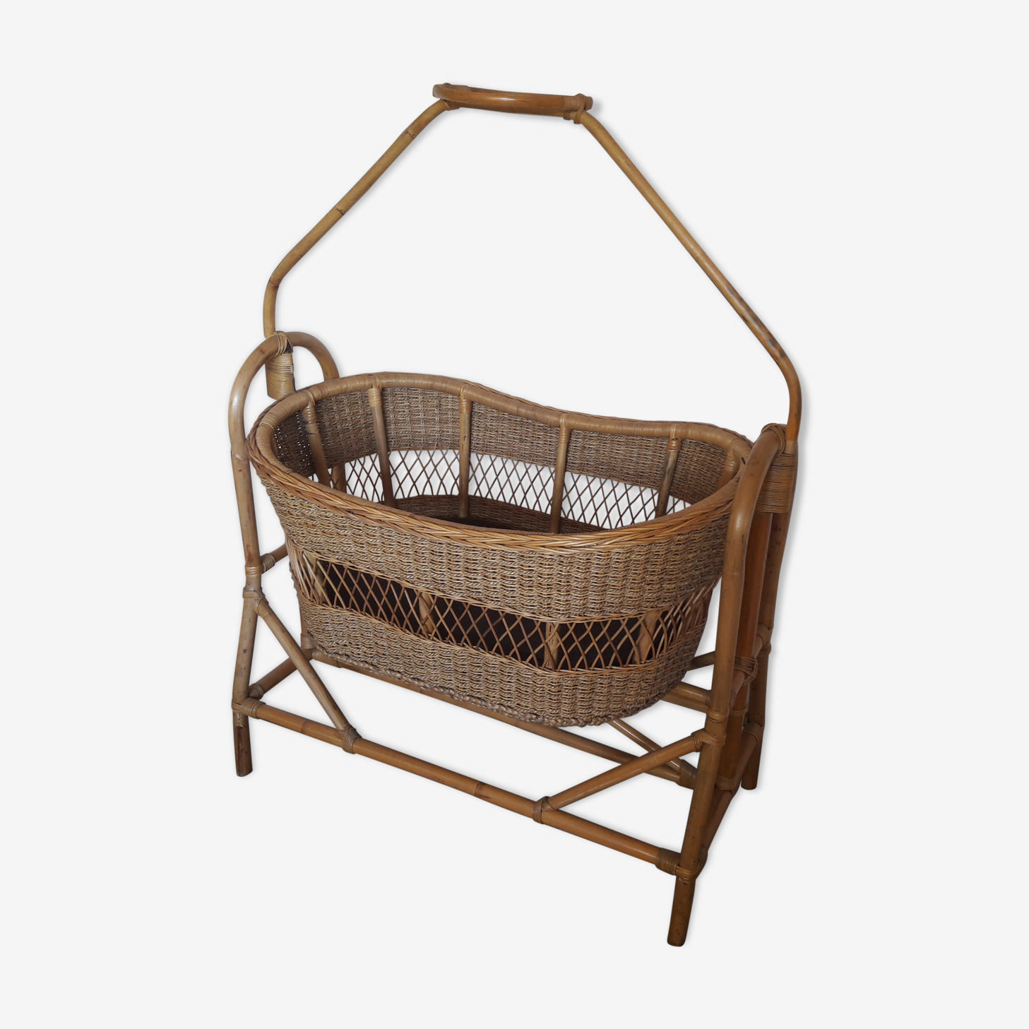 Bamboo and rattan cradle