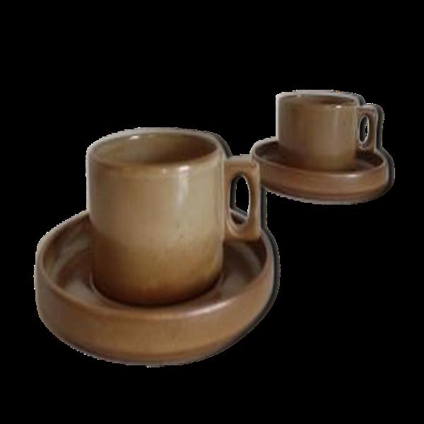 Ensemble de tasses grès de Brenne