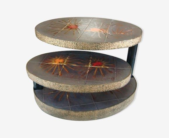 table basse la roue vallauris c ramique porcelaine. Black Bedroom Furniture Sets. Home Design Ideas