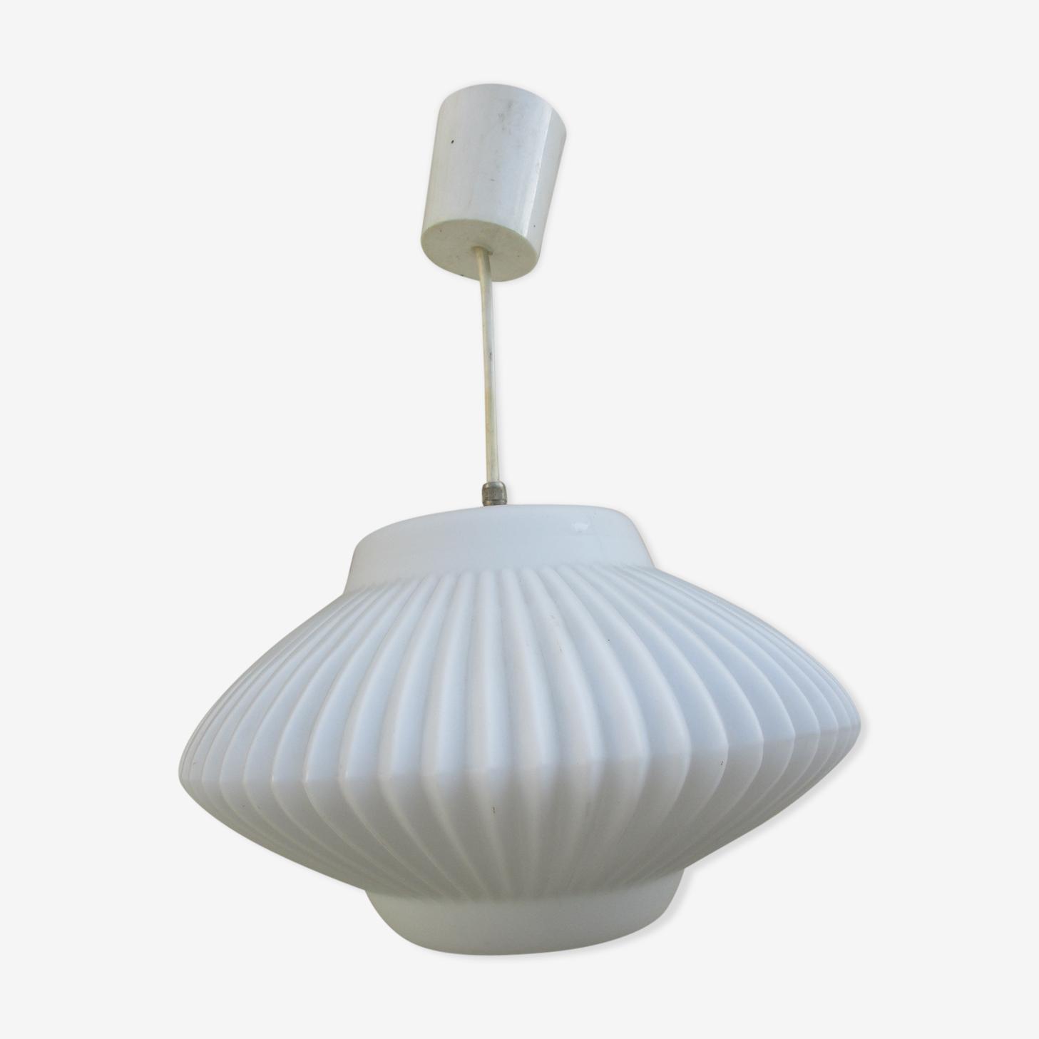 Scandinavian opaline hanging lamp