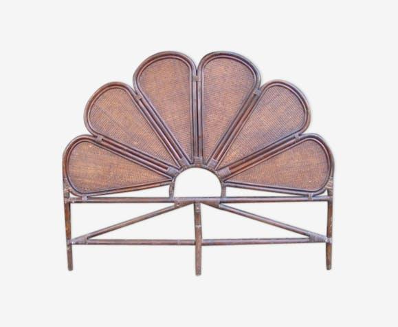 Tete De Lit Rotin Et Cannage Ancienne Wood Wooden Vintage