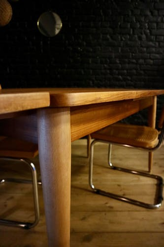 Table vintage et ses rallonges