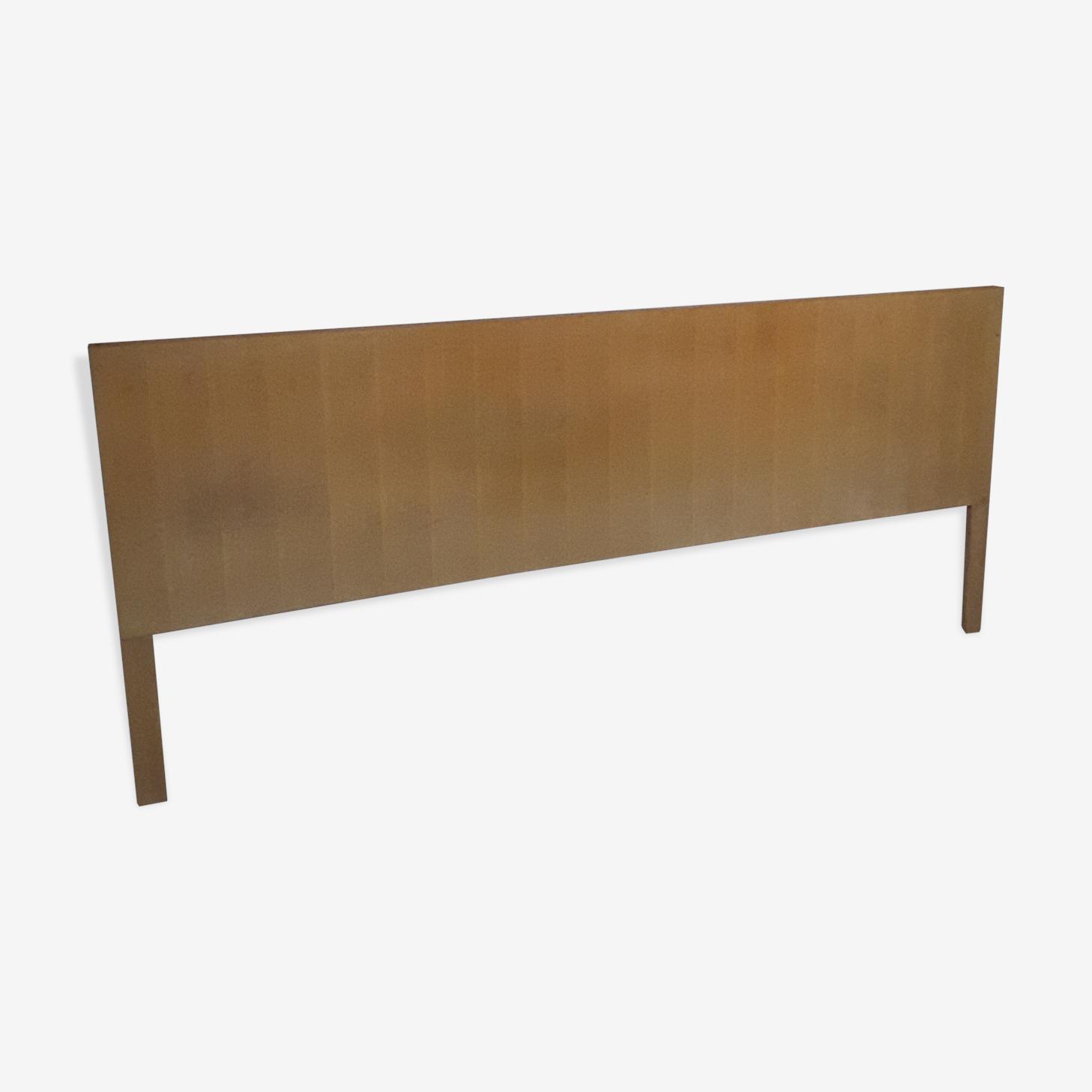 Tête de lit en bois et placage chêne vintage