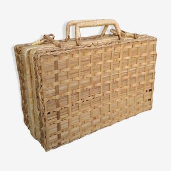 Vintage Wicker suitcase