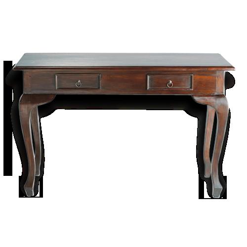 Console bureau bois massif bois matériau classique