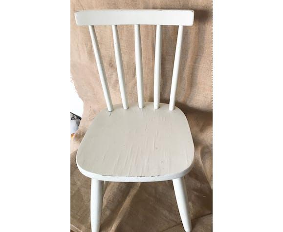 Chaise enfant vintage blanche