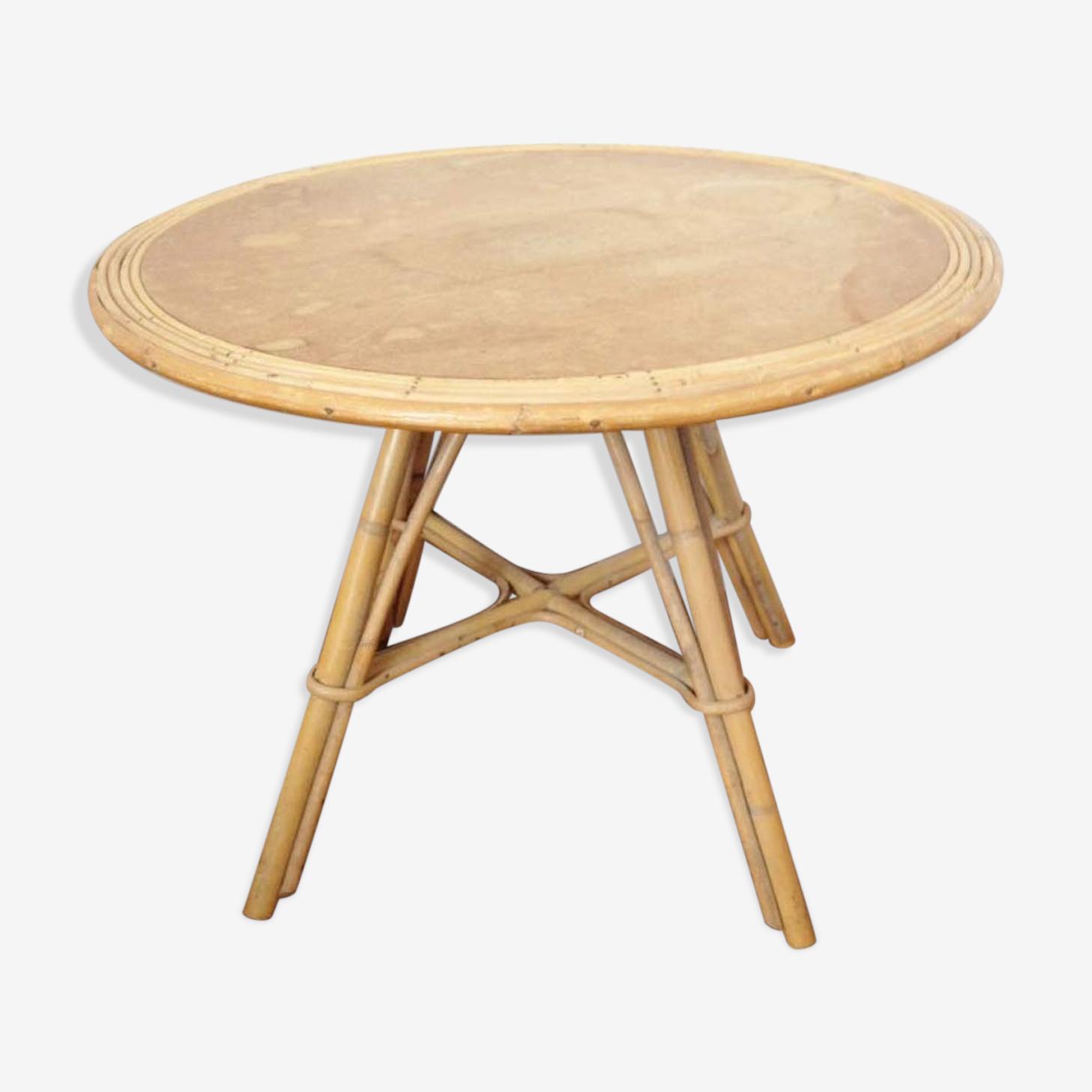 Coffee table in rattan 1950