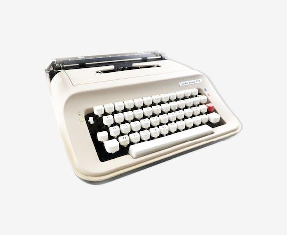 Machine à écrire underwood 319 beige et noire vintage révisée ruban neuf