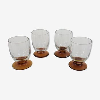Set of 4 pretty glass vintage