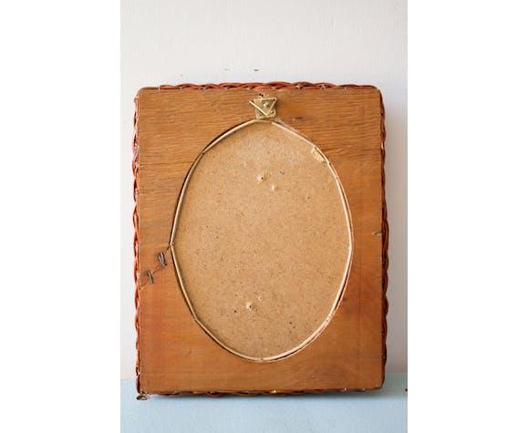 Miroir en osier - 22x27cm