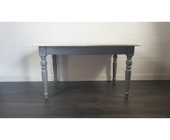 Painted English Farm House Dining Table