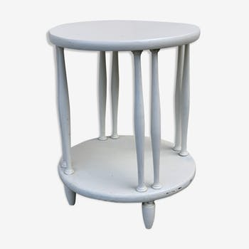 Healing or roundwood side table on 2 levels