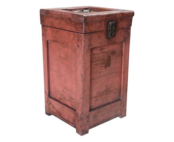 Old high chest in teak