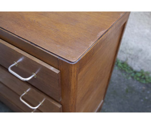 60's compass feet chest of drawers