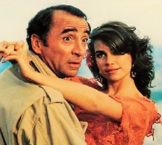 """Affiche d'exploitant cinématographique de """" Claude Brasseur & Valérie Kaprisky """" de 1986"""