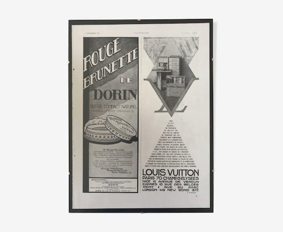 Affiche publicitaire Louis Vuitton & Dorin 1930