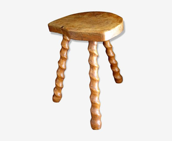 Wooden design tripode elm magnifying glass twisted old wooden chair