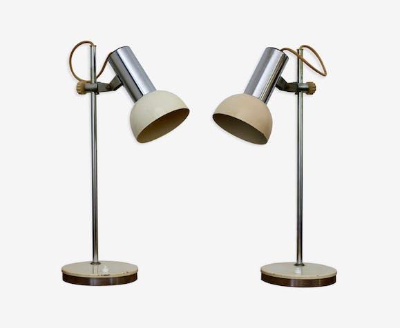 Paire de lampes de bureau années 70