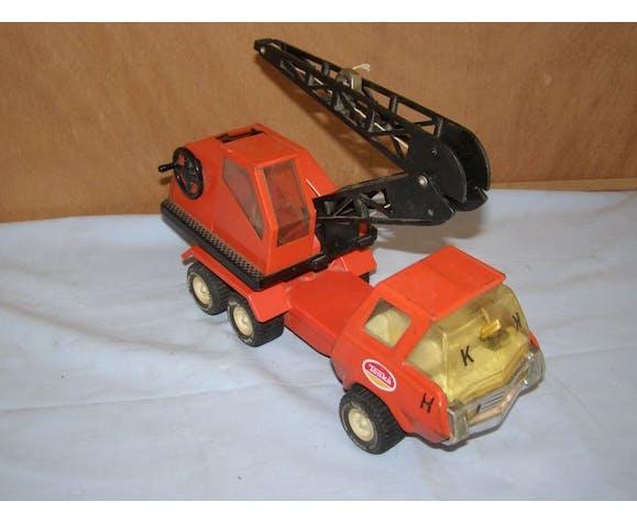 Ancien jouet Tonka, camion grue en métal