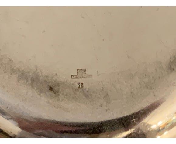 Dessous de bouteille Luc Lanel pour Christofle Ondulation en métal argenté art déco