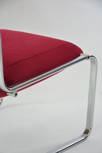 Fauteuil chromé rouge