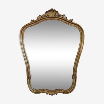 Miroir en bois et stuc 99x68cm