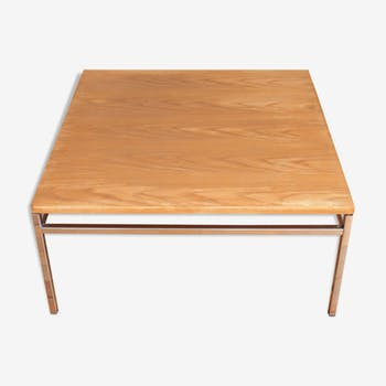 Coloured metal wood coffee table