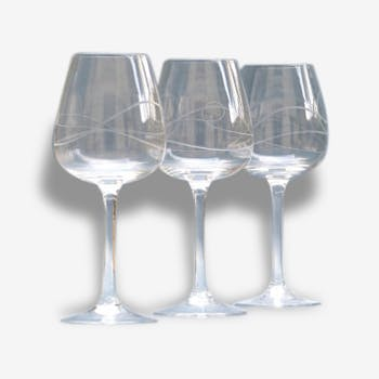 3 verres à vin vintage - verres de dégustation vintage