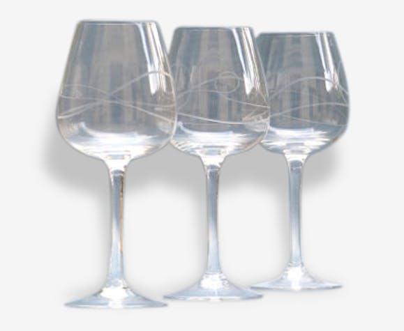 3 verres à vin vintage verres de dégustation vintage | Selency