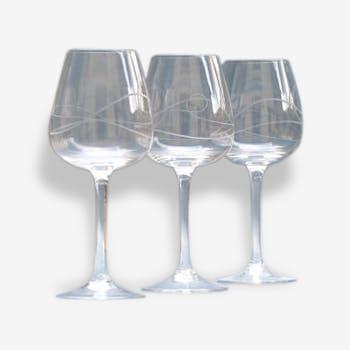 3 vintage - vintage tasting glasses wine glasses
