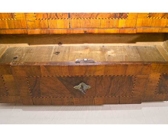 19th century walnut marquetry commodity