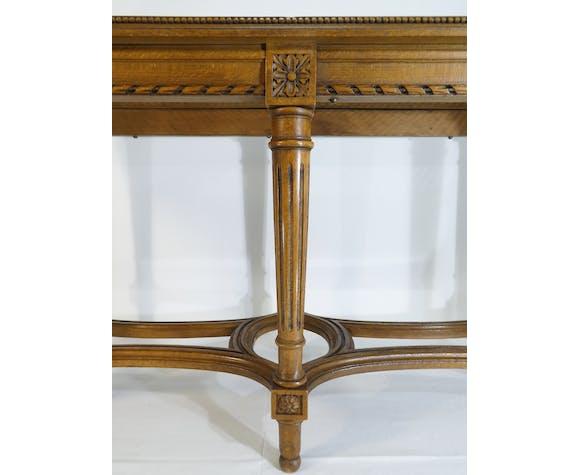 Banquette de piano de style Louis XVI en bois assise cannée