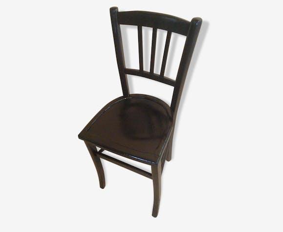 Chaise ancienne style baumann bistrot noire vintage ann e - Chaise bistrot ancienne baumann ...