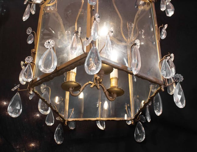 Lanterne transition d'époque Louis XV Louis XVI