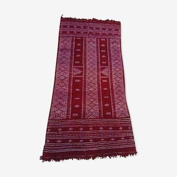 Kilim red wool handmade