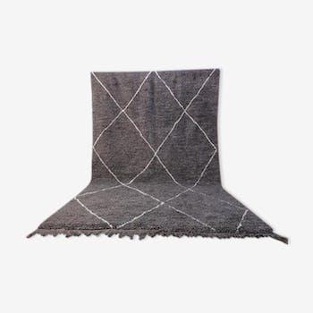 Tapis beni ourain gris  305x194 cm