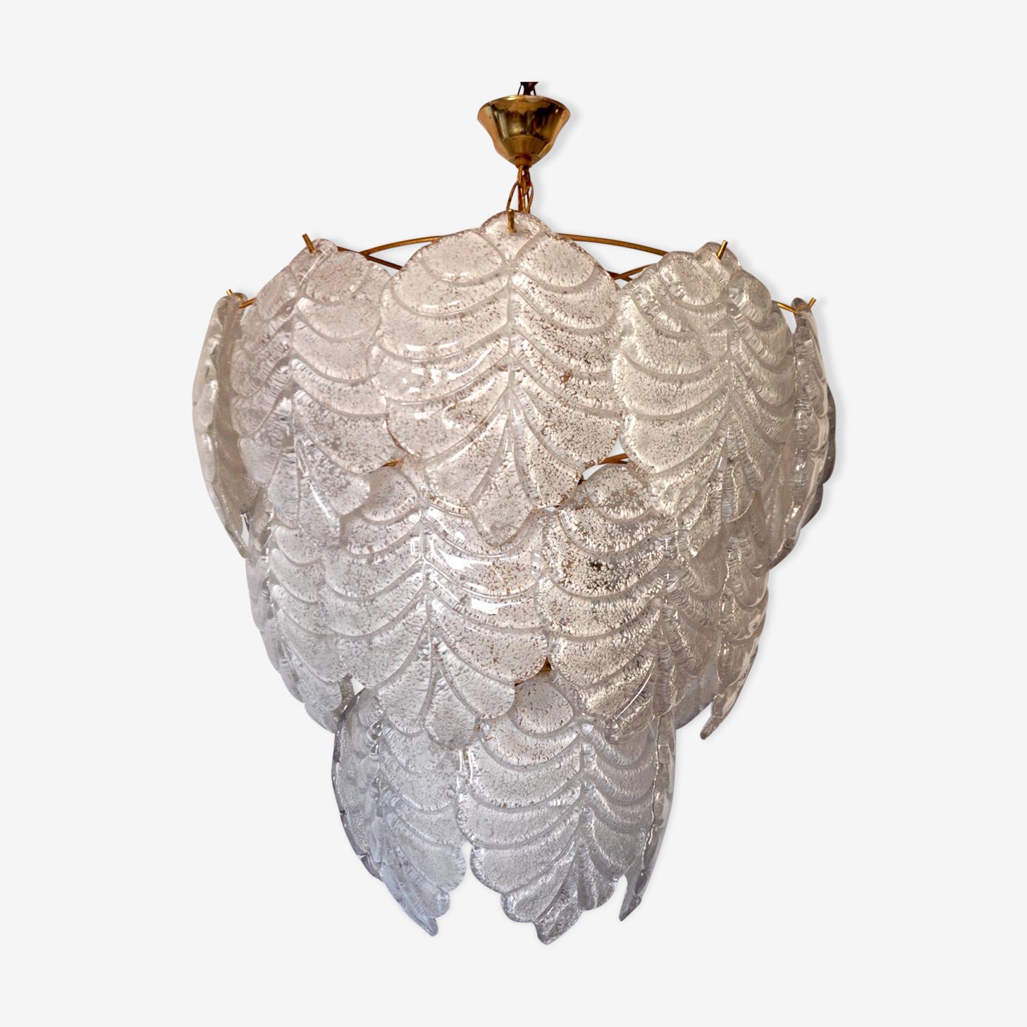 Chandelier glass of Murano of Mazzega 1960 s