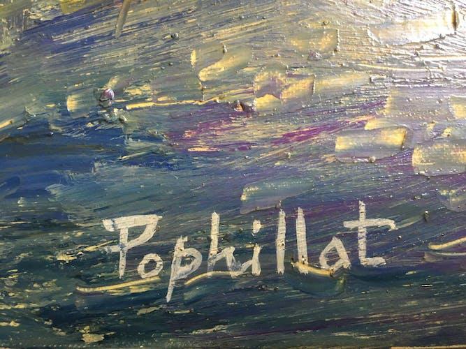 Huile sur toile de J.-P. Pophillat