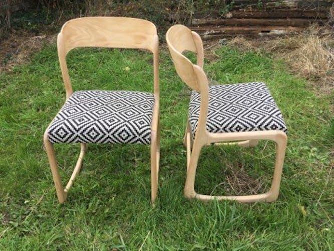 Lot de 2 chaises Baumann traineau