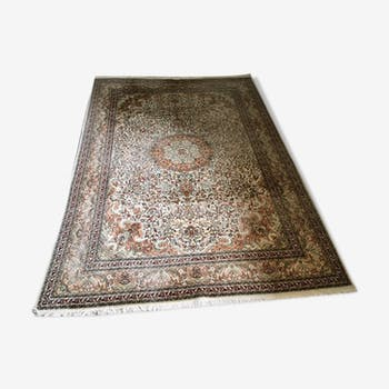 100% silk persian rug 212x305cm