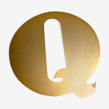 Golden sign vintage letter