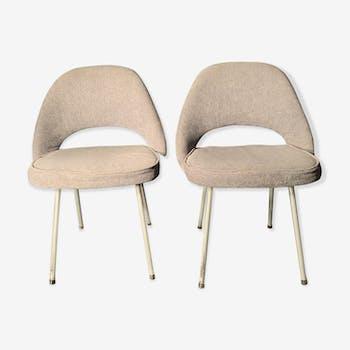 Paire de chaise conférence par Eero Saarinen pour Knoll