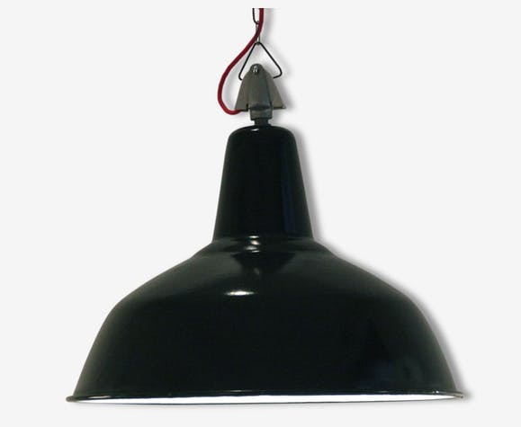 Ancienne lampe suspension industrielle gamelle d\'atelier en tôle ...