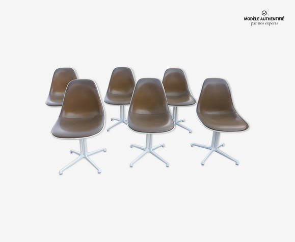 Lot de 6 chaises La Fonda Charles & Ray Eames Herman Miller pour Mobilier international