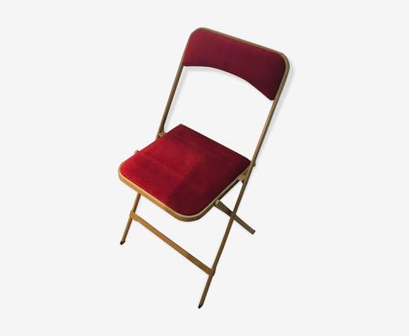 De 24 Rouge Pliantes Chaises Velours Or Vintage Métal Suite ZTkuPXiO